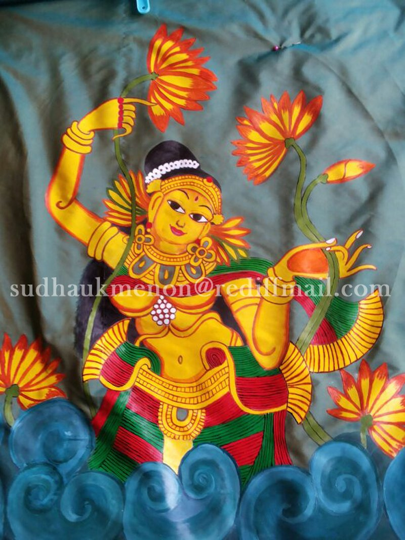 Kerala mural painting on fabric for Mural painting designs